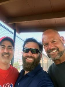 "SFC Brian ""Mayor"" Keaton with Mark Ambolino and Darren ""Dutch"" Dalton"